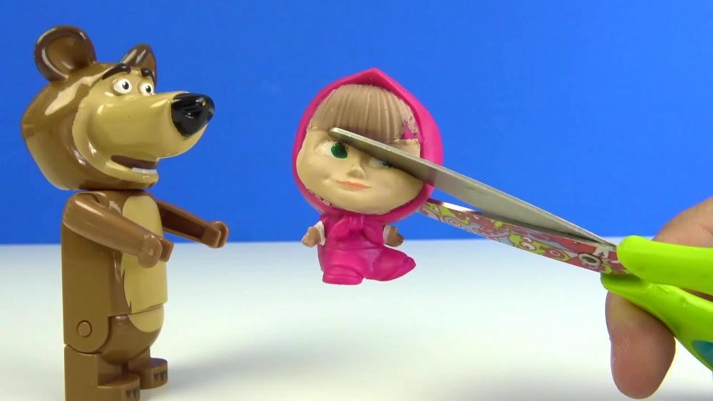 Maşa ile Koca Ayı Mashems yumuşak oyuncak kesme oyunu for kids oyun zamanı izle