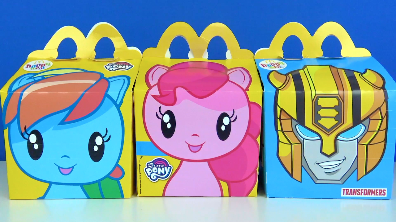 McDonalds Happy Meal çocuk menüsü My Little Pony oyucakları Transformers