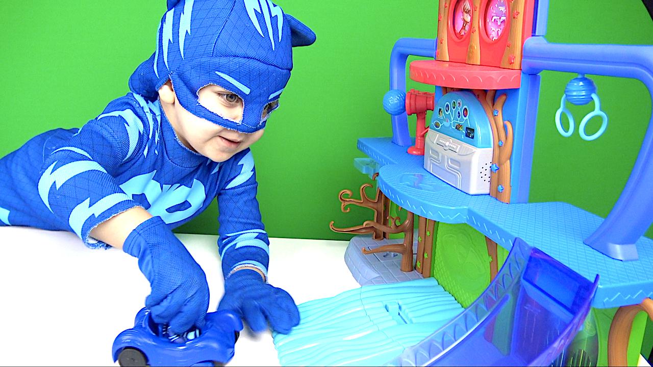 Pijamaskeliler kontrol merkezi oyun seti açıyoruz- Pjamasks kostümlü Selimi izle