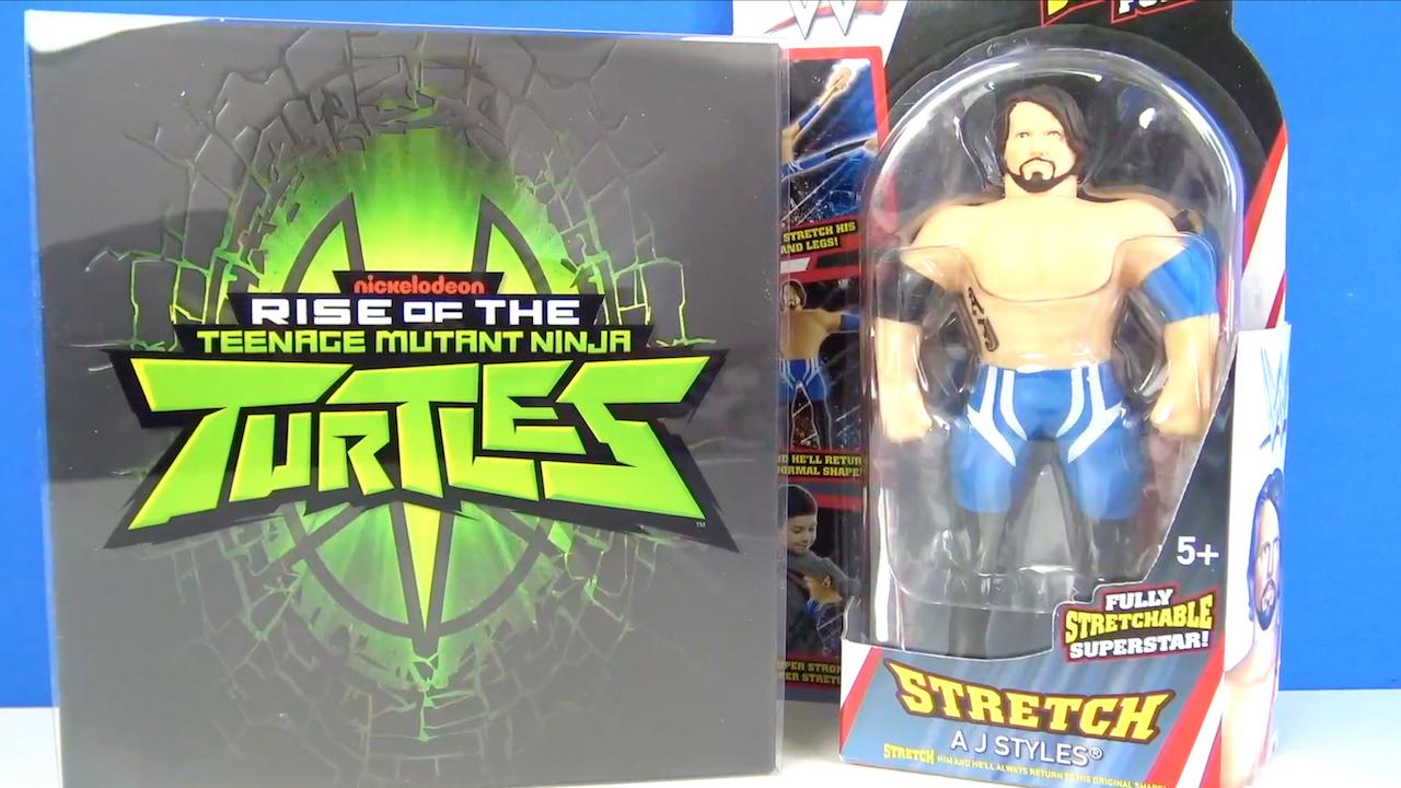 Rise of the Turtles Ninja -Stres Attıran Rahatlatıcı Oyuncak AJ Styles kutu açılımı yapıyoruz