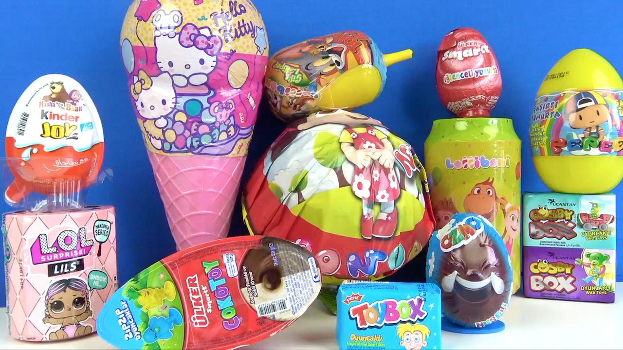 Toybox Cosbybox Maşa ile Koca Ayı Sürpriz Yumurta Ülker Smart Çokotoy Kinder Ozmo Pepee Şaşırtı LOL~1