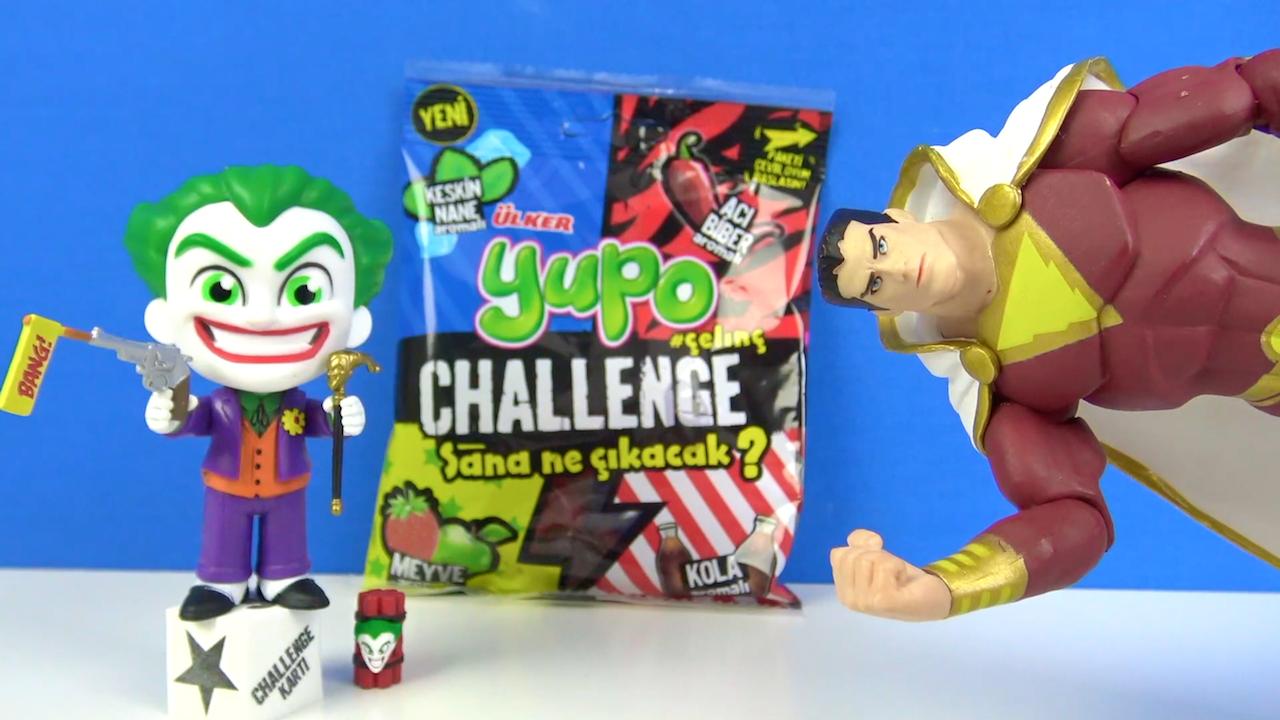 Ülker Yupo aburcuburu acı şeker~ Joker ve Shazam dünyanın en acı şekeri ile Ülker Yupo Challenge yapıyor
