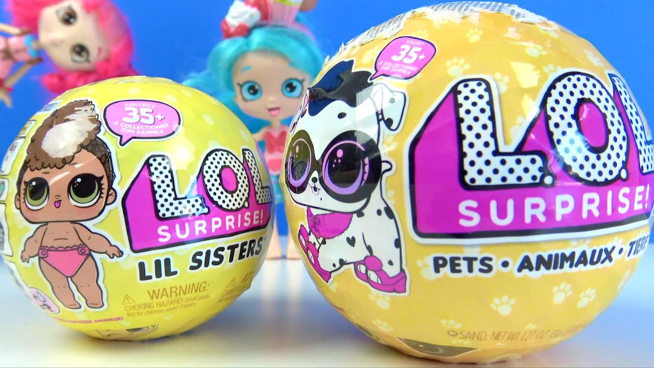 L.O.L. sürpriz yumurta Lil Sisters oyuncak bebek LOL surprise Pet açıyoruz.