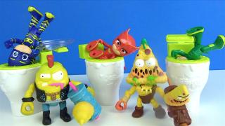 Baykuş Kız oyuncak tuvaletten düştü Çöps Çetesi -Grossery Gang 5. Seri Pijamaskeliler Çöps challenge