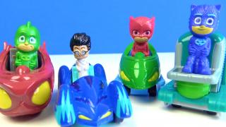 Baykuş Kız Kertenkele Kedi çocuk Romeo çarpışan araba~ Pijamaskeliler metal araçları mini oyuncaklar