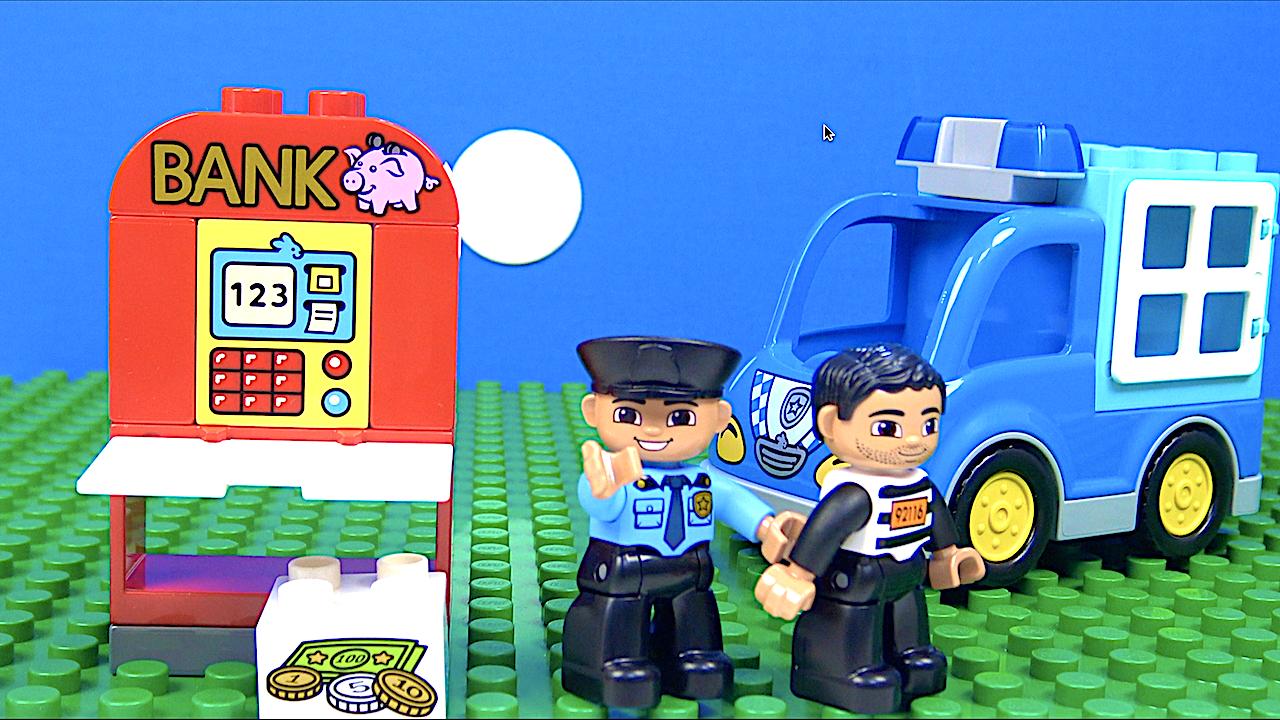 Lego stop motion Hırsız oyunu- Lego Duplo Polis yakalıyor