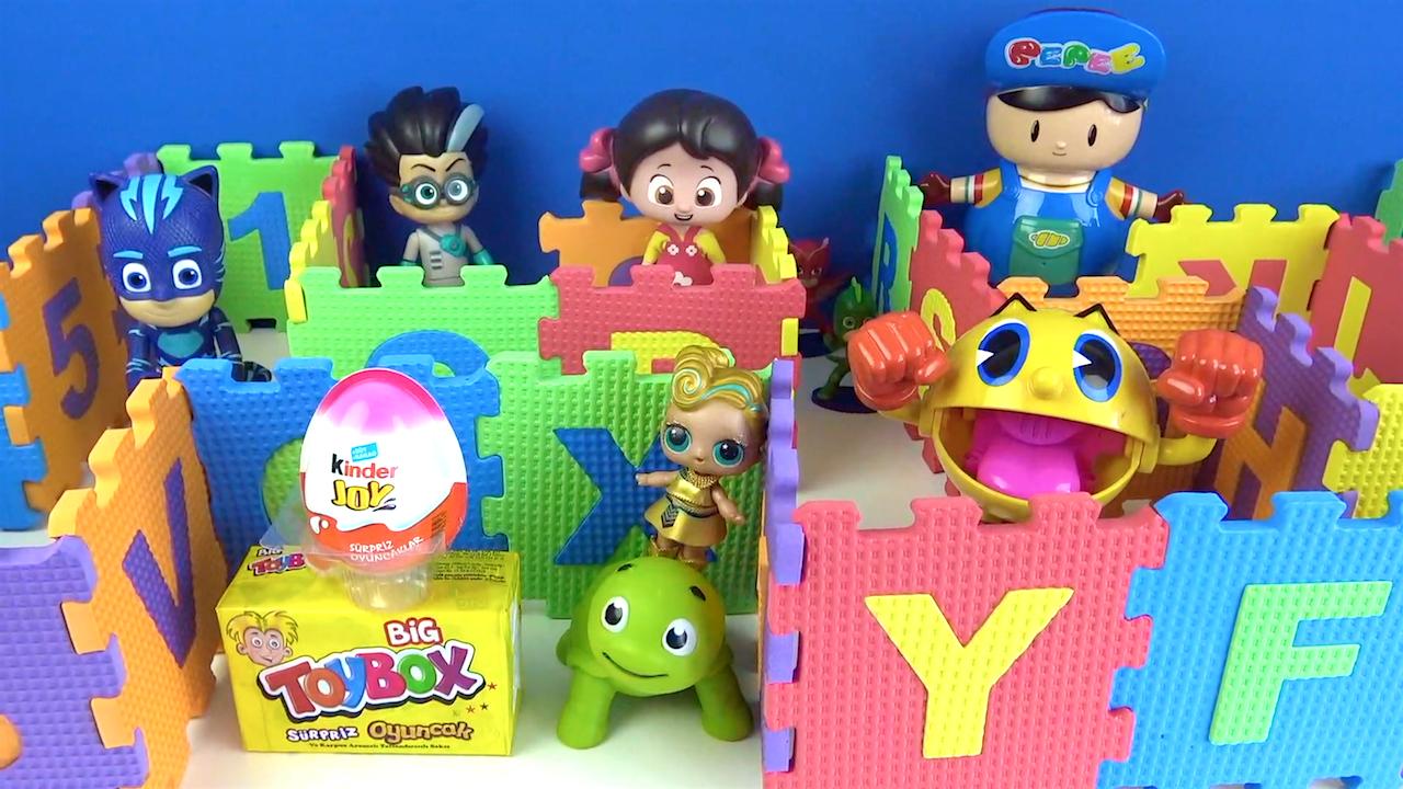 LOL bebek ödüllü Labirent oyunu-Pijamaskeliler Pepee Niloya Kinder sürpriz yumurta Toybox