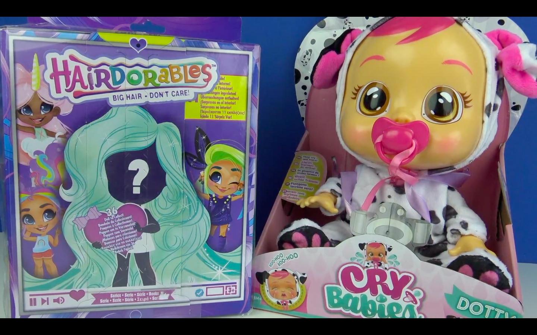 Gerçek Saçlı Hairdorables Sürpriz Paket Oyuncak Gerçek Gözyaşıyla Ağlayan Bebek Cry Babies Ve Açılımı yapıyoruz.