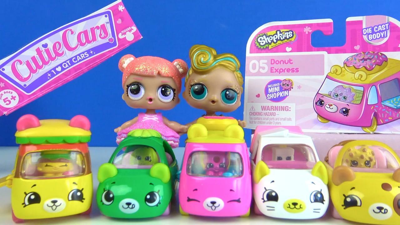 Shopkins Cutie Cars Learn Colors With Shopkins cars Cicibici arabaları ile renkleri öğrenelim LOL bebek~1